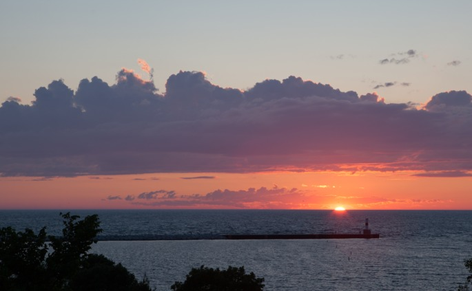 Petoskey Michigan Sunset From Sunset Park Friends And